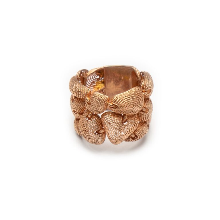 SILVER 925 ROSE GOLD PLATED DESIGNED RING