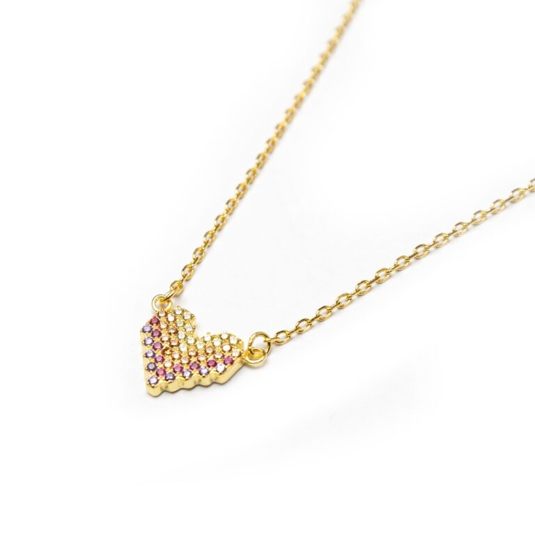 GOLD PLATED HEART NECKLACE