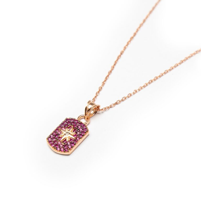 ROSE GOLD PLATED COLLORED PENDANT
