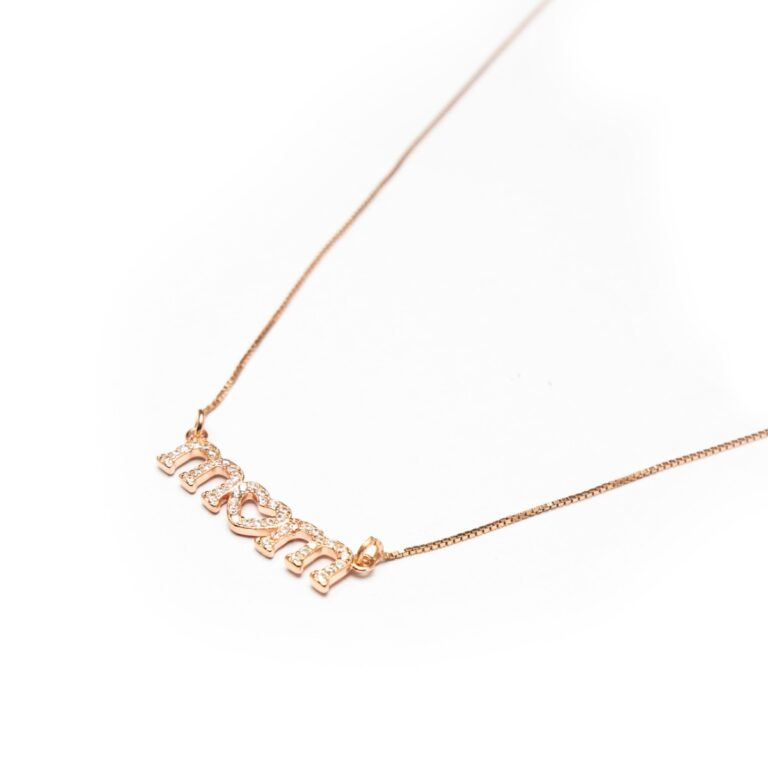 ROSE GOLD PLATED MOM NECKLACE