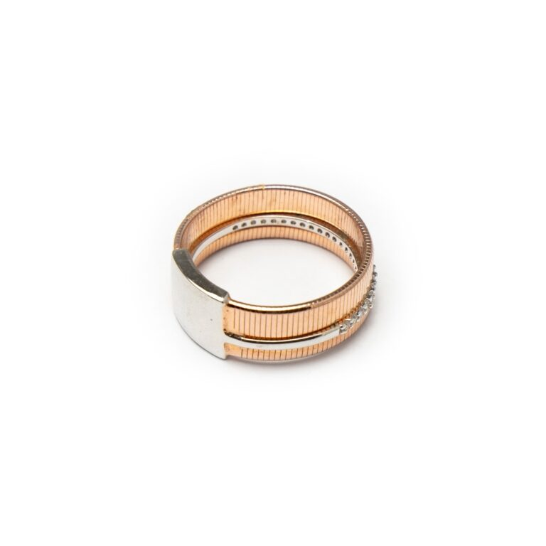 SILVER 925 ROSE GOLD PLATED RING
