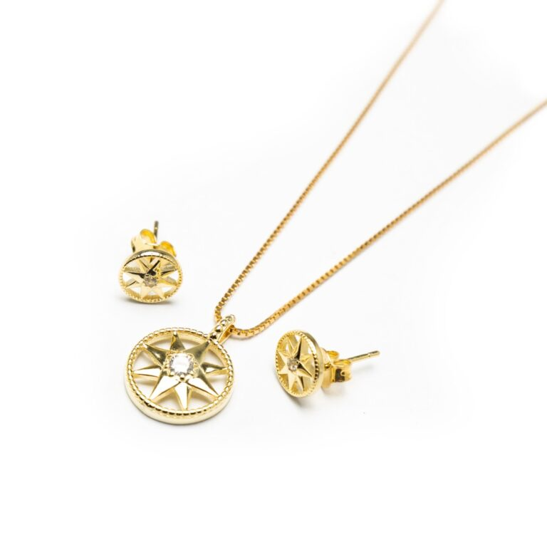 GOLD PLATED STAR SET