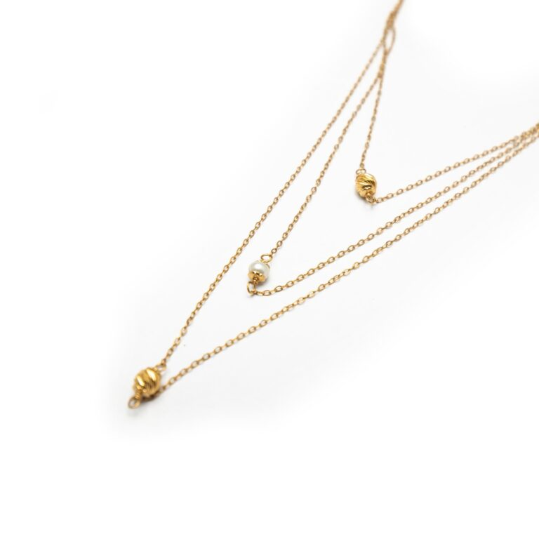 18KT YELLOW GOLD DESIGNED NECKLACE