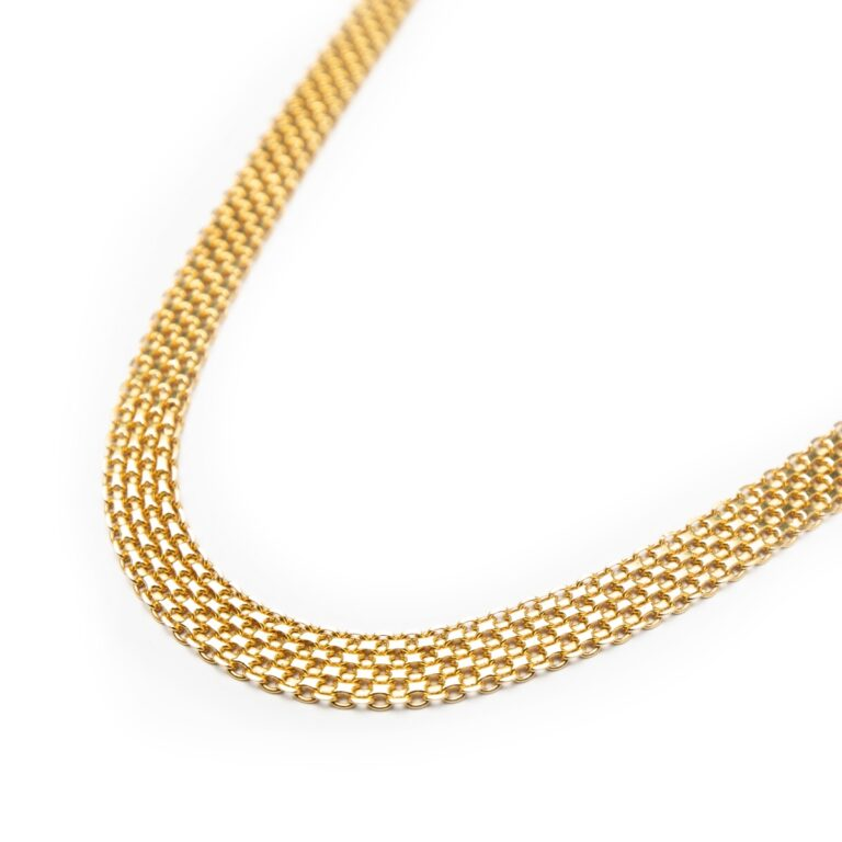 18KT YELLOW GOLD DESIGNED CHAIN
