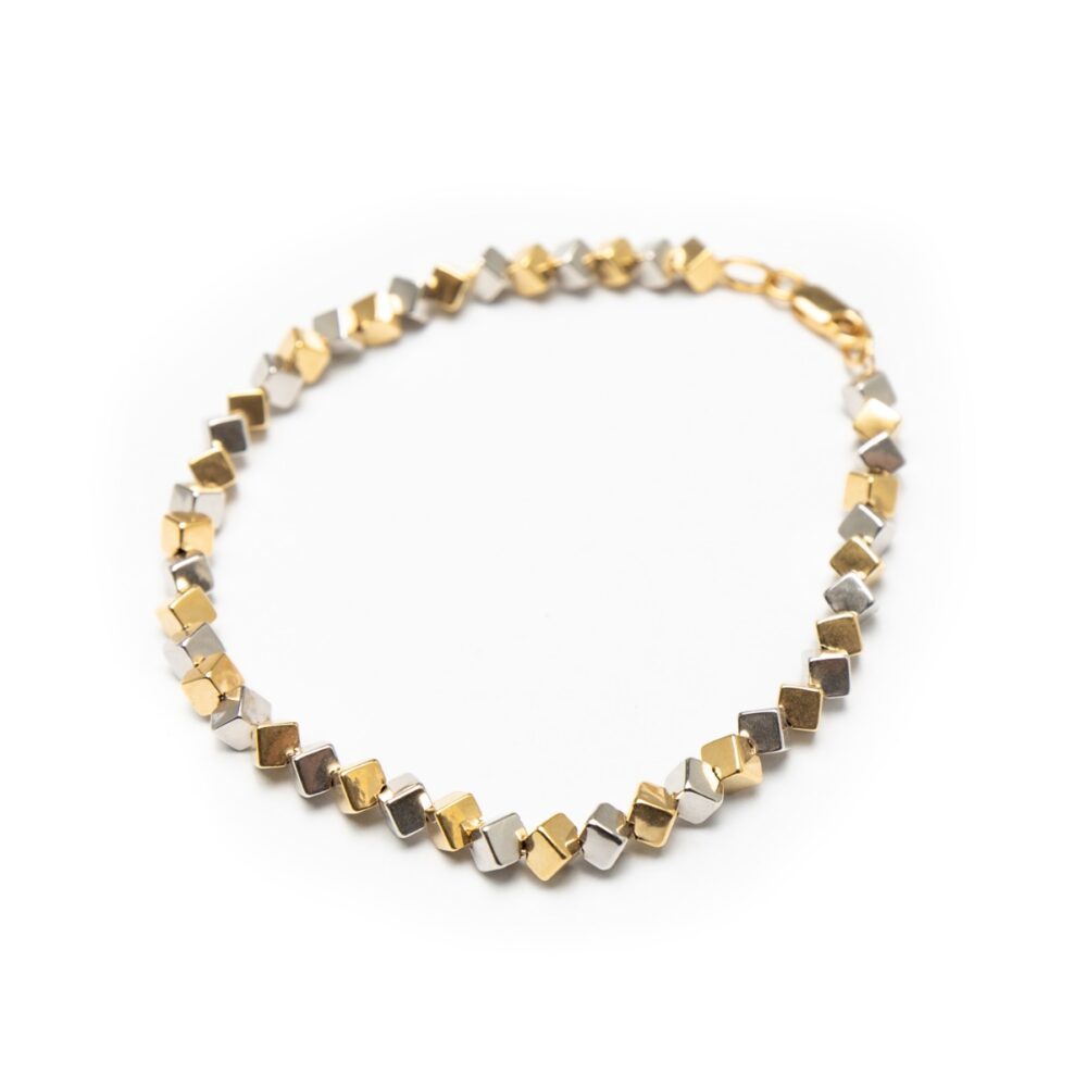 18KT YELLOW AND WHITE GOLD BRACELET