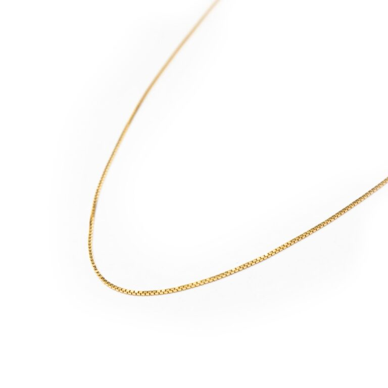 SILVER 925  GOLD PLATED CHAIN