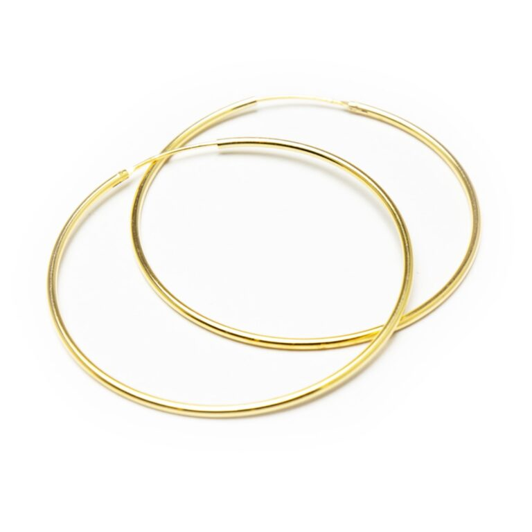 SILVER 925 GOLD PLATED HOOP EARRINGS