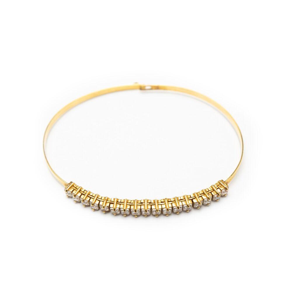 18kt Yellow Gold Bracelet With Zircons