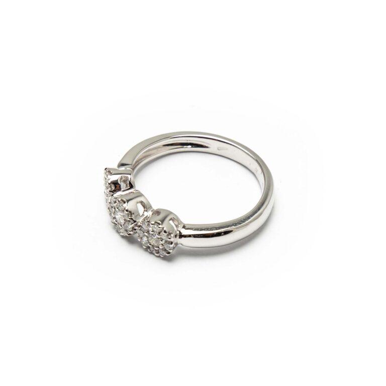 18kt White Gold Diamond Trilogy Ring
