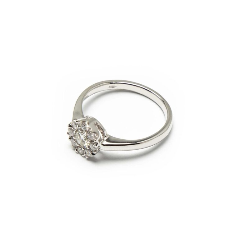 18kt White Gold Illusion Set Ring