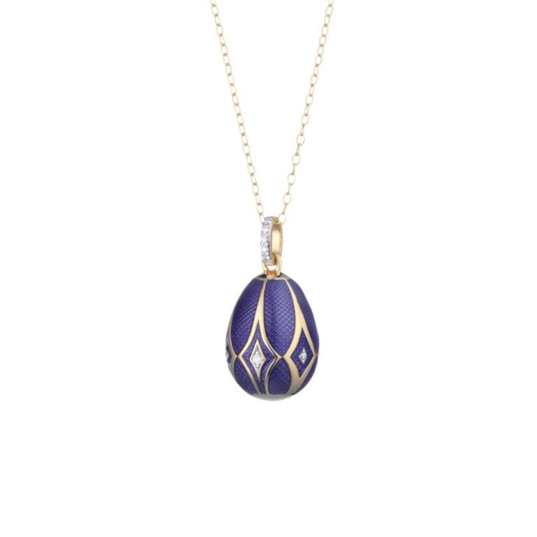 Tatiana Faberge 18kt Blue Egg Pendant