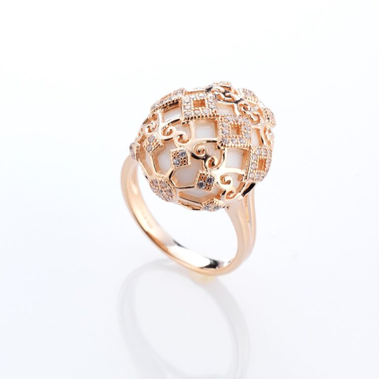 Tatiana Faberge Silver 926 Rose Gold Ring