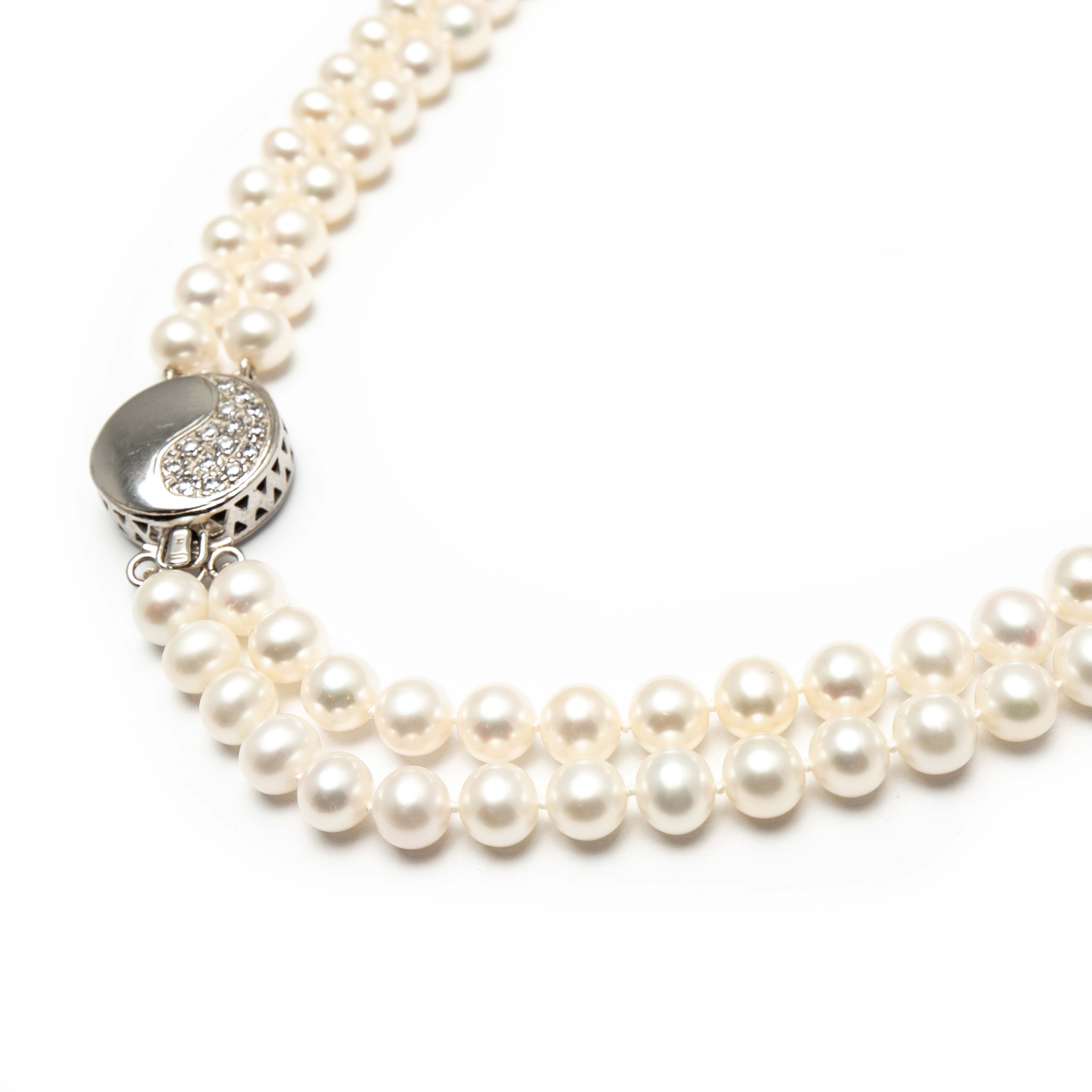 Two Row Fresh Water Pearl Necklace