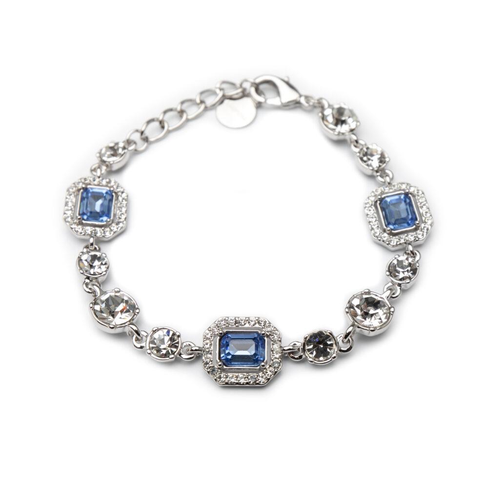 Bracelet With Blue Zircons