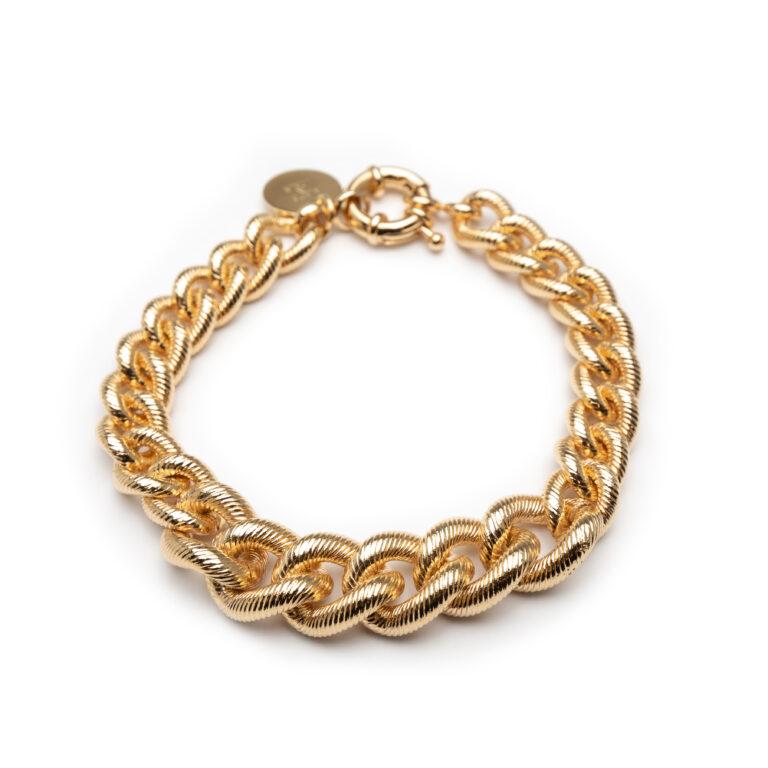 Brass Gold Plated Chunky Bracelet