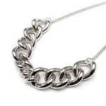 Brass Silver Plated Necklace