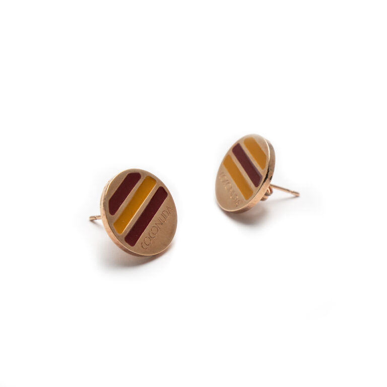 Brass Rose Gold Plated Earrings.