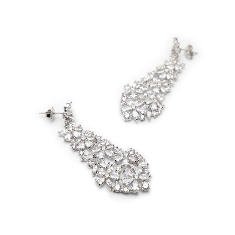 Brass Silver Plated Earrings
