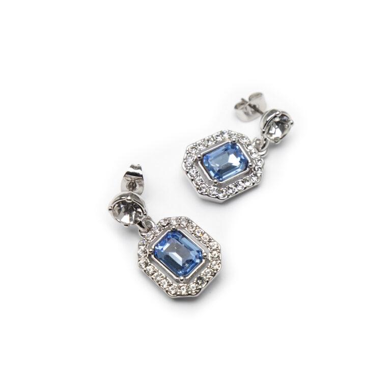 Brass, Silver Plated Earrings