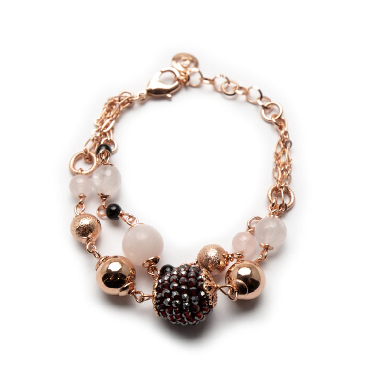 Brass Rose Gold Plated With Stones