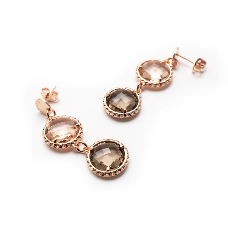 Brass Rose Gold Plated Earrings
