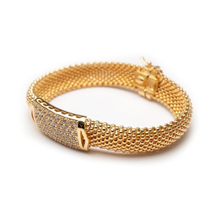 Brass, Gold Plated Bracelet
