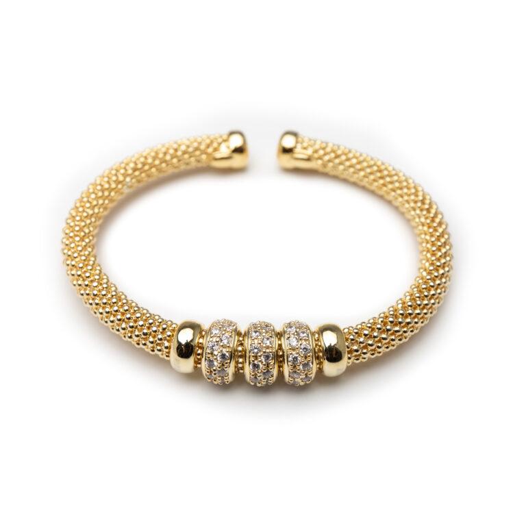 Brss, Gold Plated Bangle