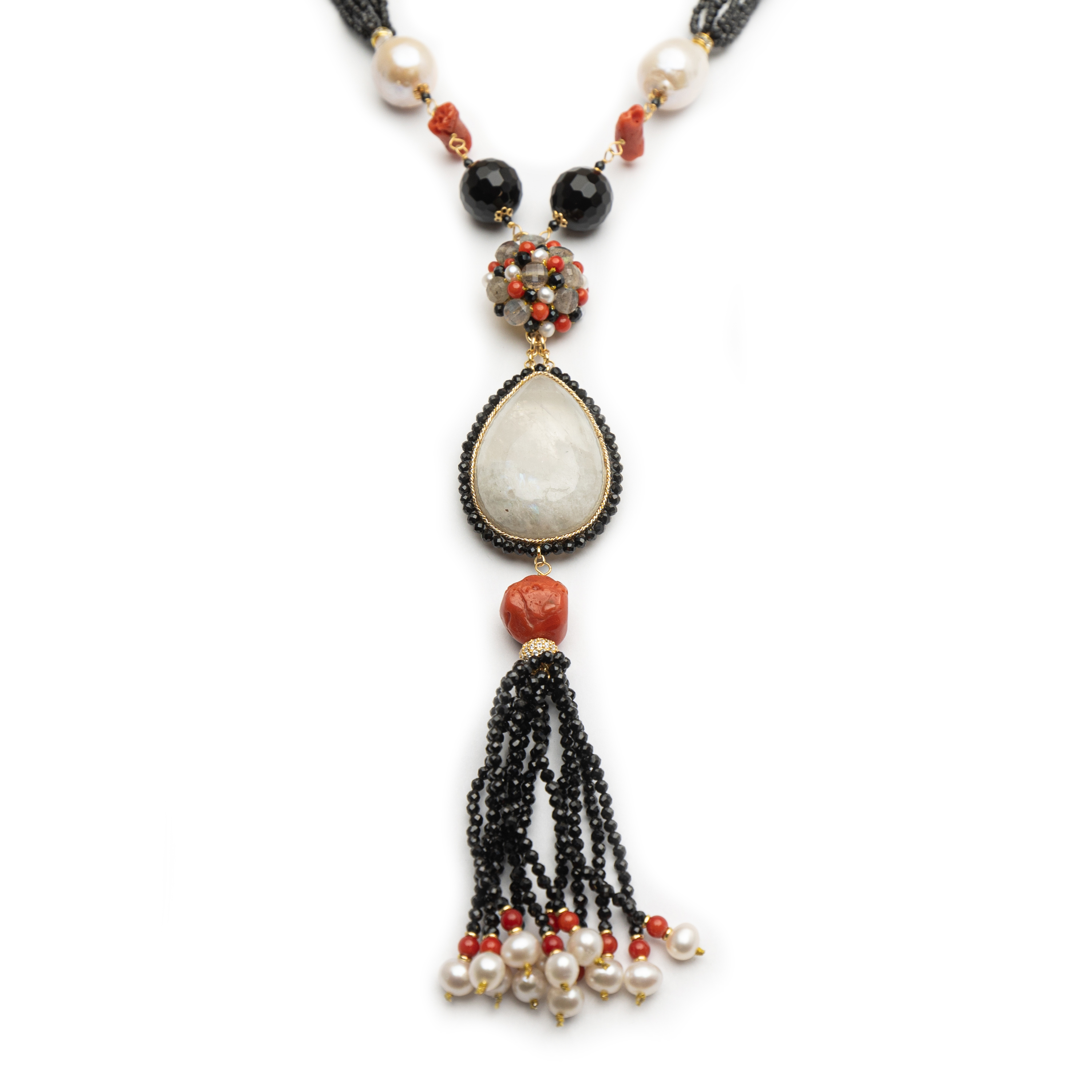 Long Natural Stone Necklace