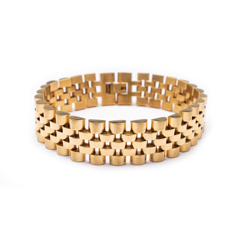 Men's Gold Plated Rolex Designed Bracelet
