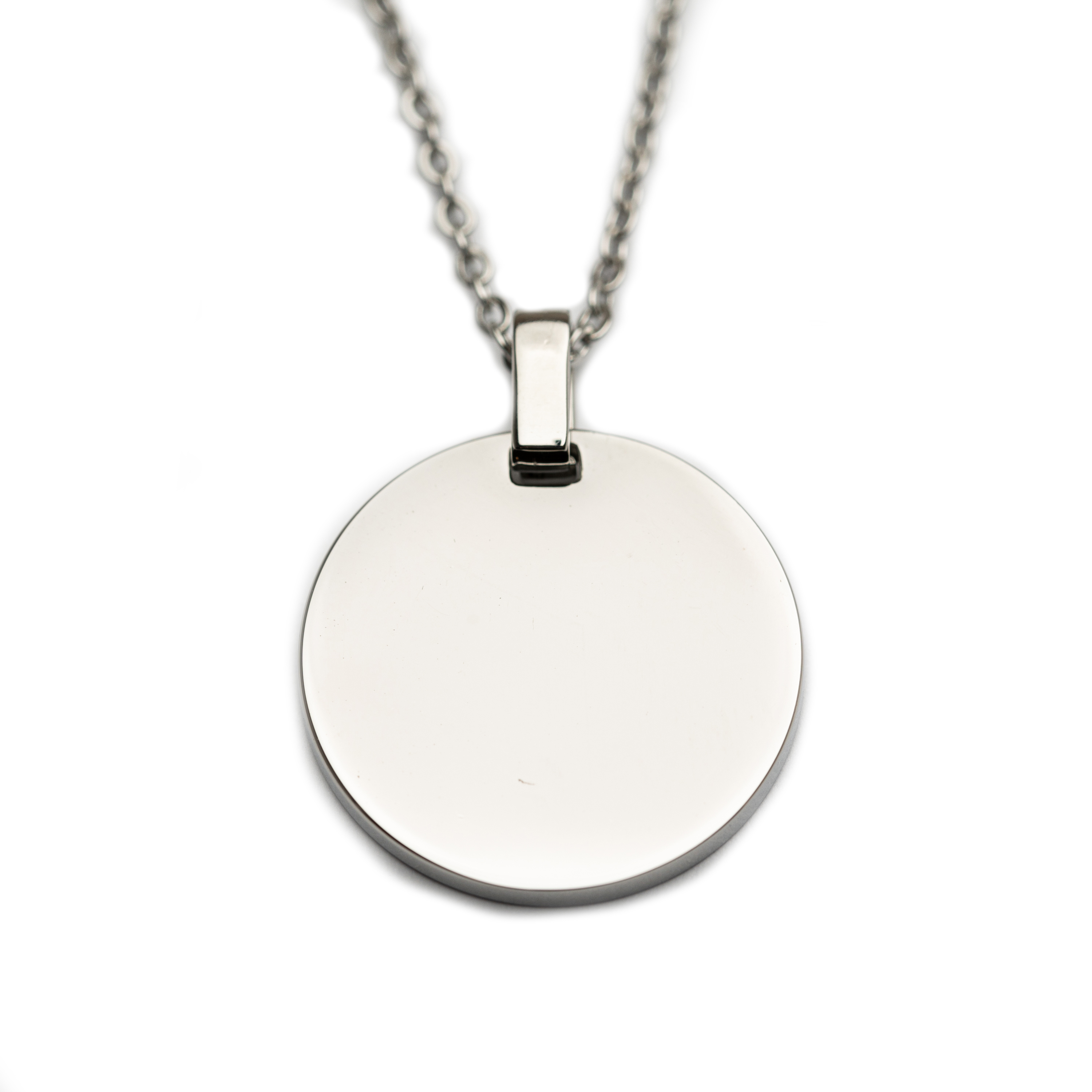 Men's Steel Necklace With Pendant.