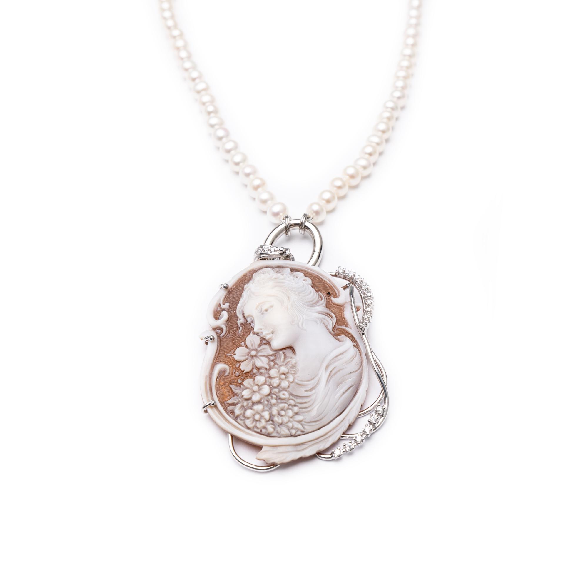 Silver 925 Cameo Necklace