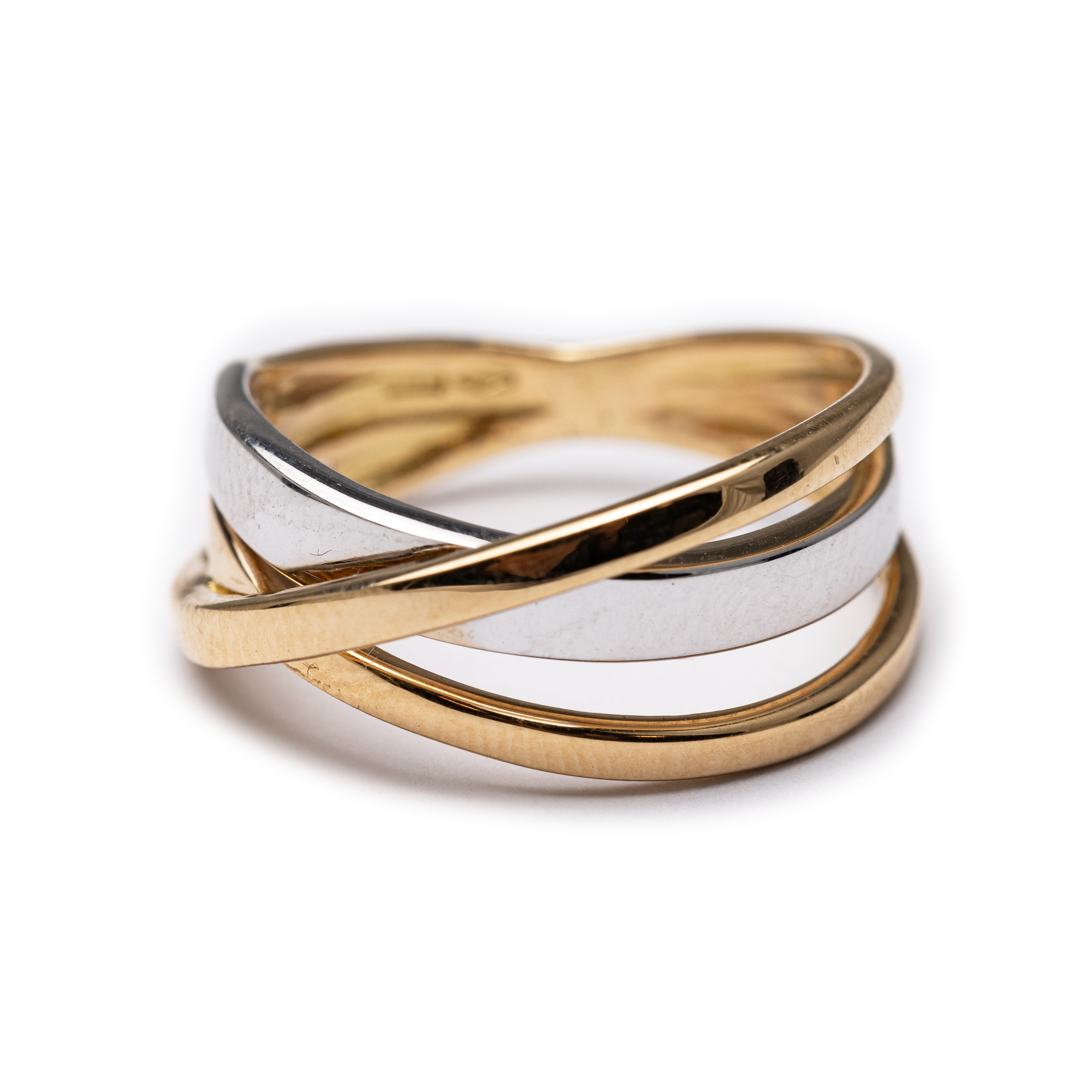 18kt Two Tone Ring.