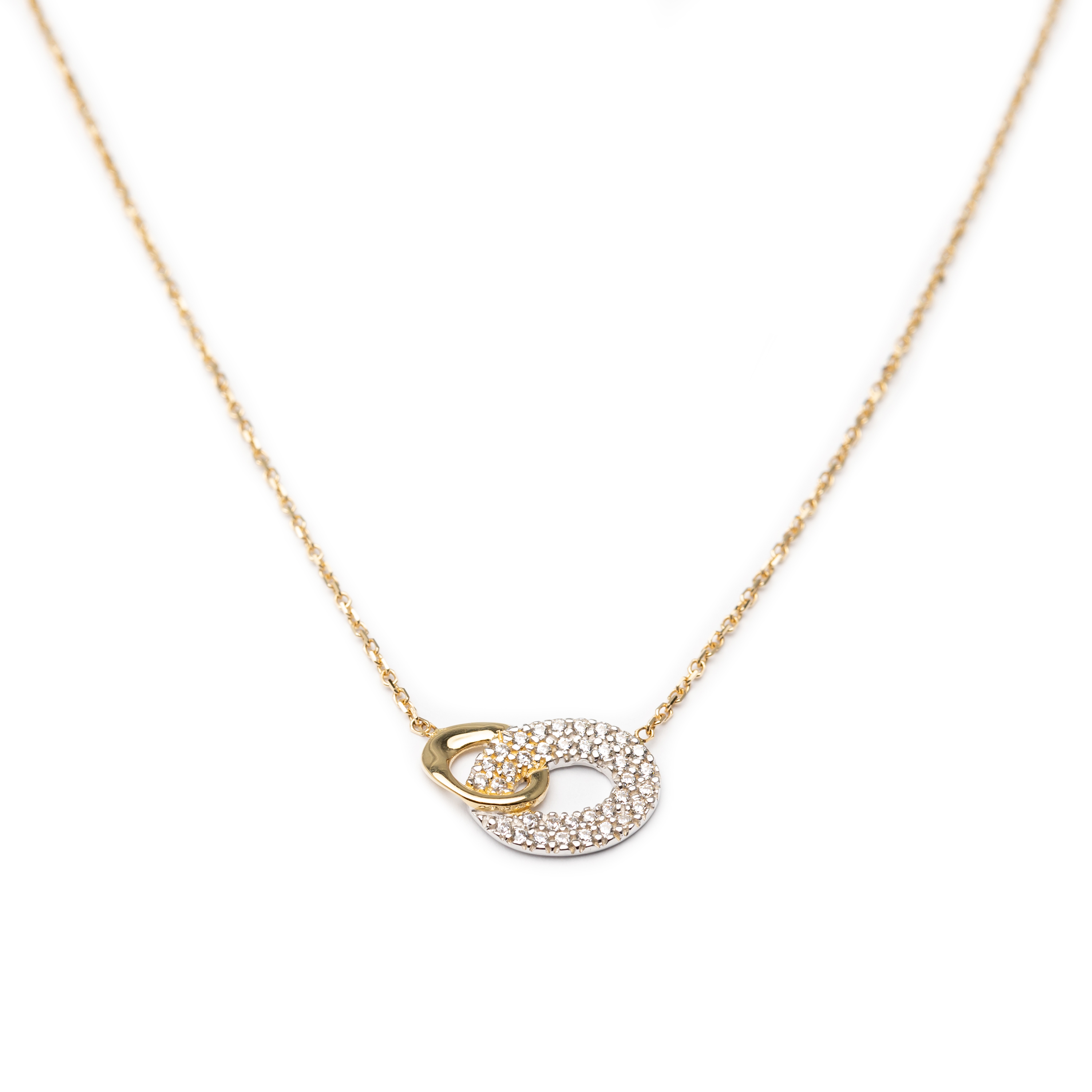 18kt Yellow & White Gold Designed Necklace.