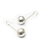 Brass Silver Plated Long Earrings.