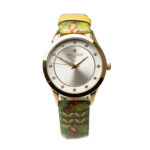 Colourful Designed Watch Steel Gold Plated .
