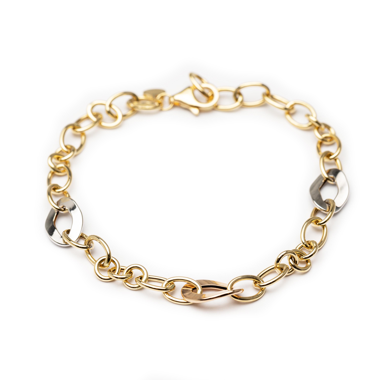 18kt Yellow & White  Gold Designed Bracelet.