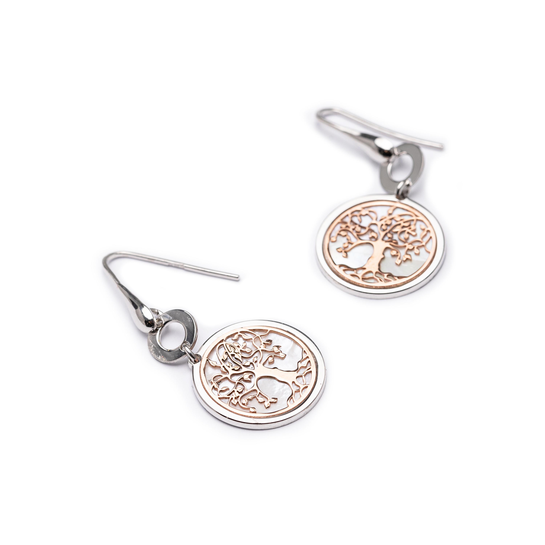 Silver 925, Tree Of Life Earrings.
