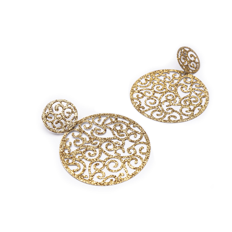 Silver 925, Glitter Earrings.