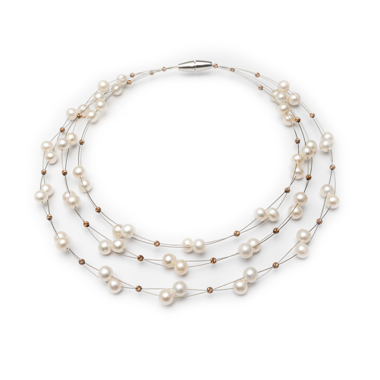 Silver 925 Fresh Water Pearl Bracelet.