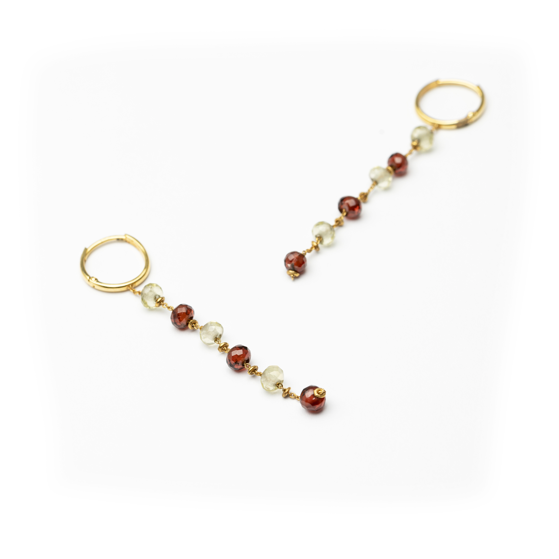 18kt Yellow Gold Designed Earrings.