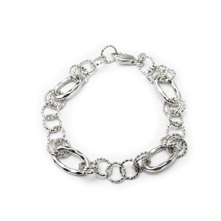 18kt White Gold Designed Bracelet.