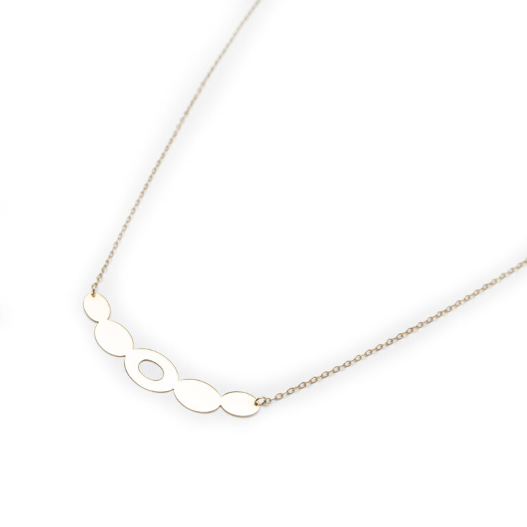 18kt Yellow Gold Designed Necklace.