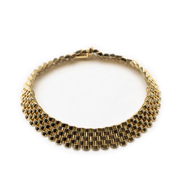 18kt Yellow Gold Men's Designed Bracelet.